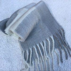 Free people super cozy oversized warm plaid scarf